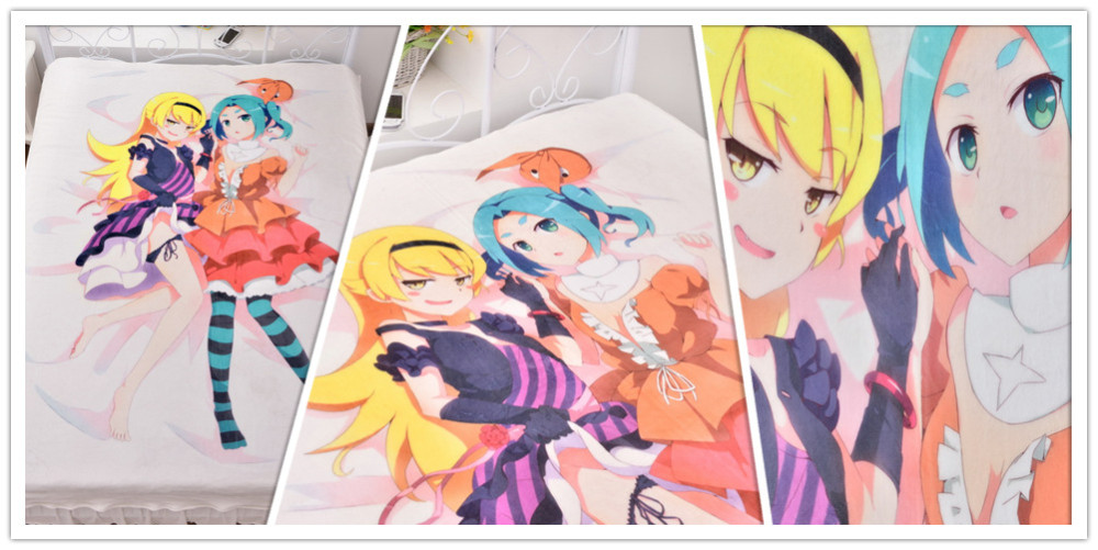 Japanese Anime Fluffy Blanket Cartoon Carpet Flannel Bedspread Fur Bedding 150*200cm On The Bed Sofa Custom Available
