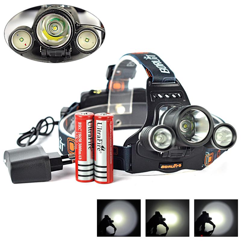 5000 lumen headlamp t6 2r5 led rechargeable lampe frontale. Black Bedroom Furniture Sets. Home Design Ideas