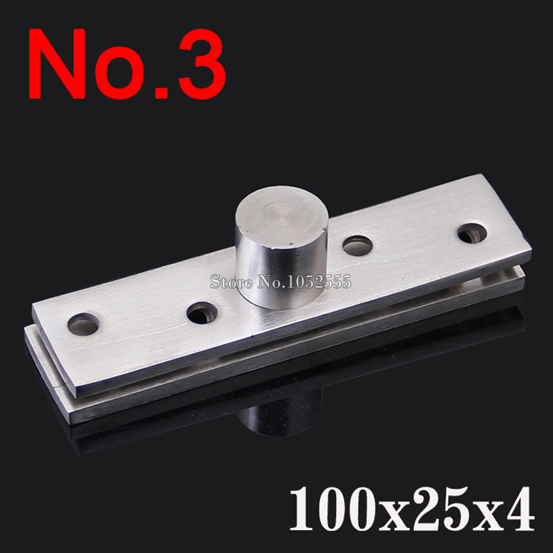 2PCS Stainless Steel Door Pivot Hinges 100mmx25mm 360 Degree Thickness 4.0mm Install up and down Furniture Hinges K187(China (Mainland))