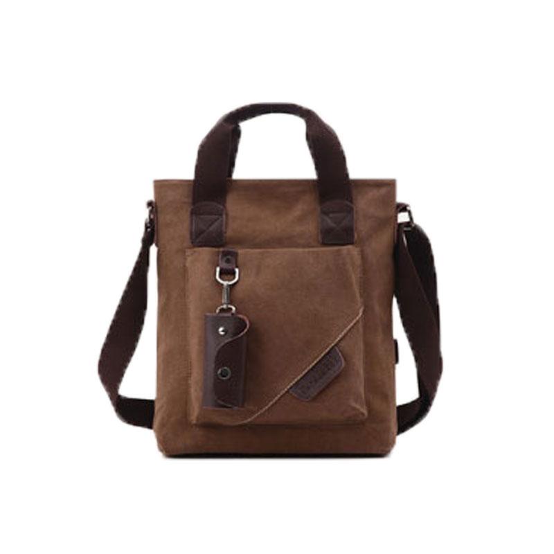 2016 new fashion business casual men canvas shoulder bag Messenger Vertical square handbag six colors to choose 40(China (Mainland))