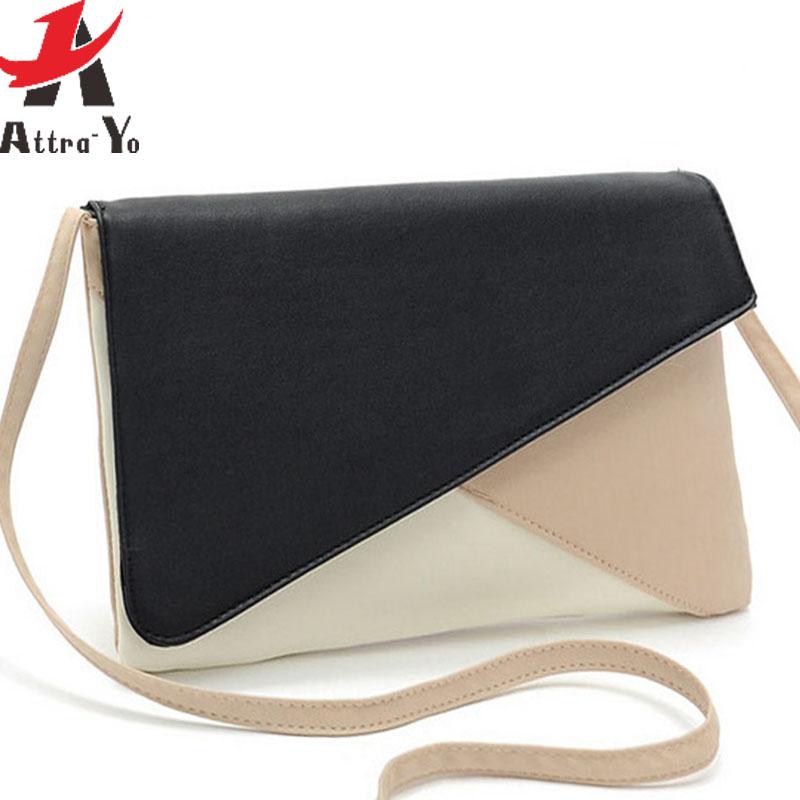 Atrra-Yo! 2015 women messenger bags women's PU leather handbag patchwork shoulder bag fashion clutch free shipping LS5450ay(China (Mainland))