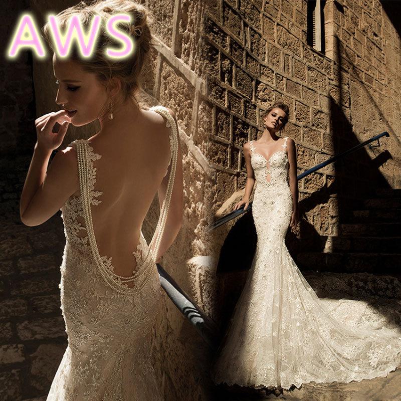 free shipping 2016 new wedding dress weeding dress romantic sexy bridal gown brides dress lace fashion hot wedding dresses yan83(China (Mainland))