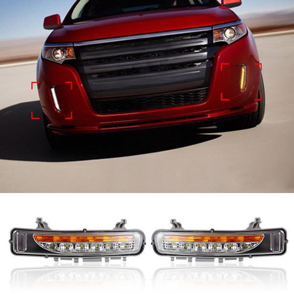 Здесь можно купить  New 6 LED Daytime Running Light For Ford Edge 2011 2012 2013 2014 DRL Car Styling Modify Fog Lights With Turn Signal   Автомобили и Мотоциклы