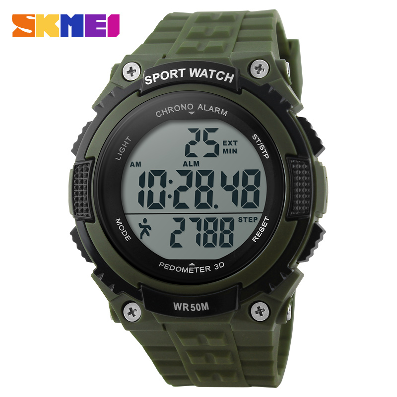 Hot Sports Pedometer Digital Watch Fashion Casual Fitness Multifunctional For Men Women Outdoor Wristwatches LED Dress Watches<br><br>Aliexpress