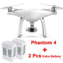 With 2Pcs Extra Intelligent Flight Battery + DJI Phantom 4 UAV Remote Control RC Quadcopter FPV RC Helicopter Drone with Camera