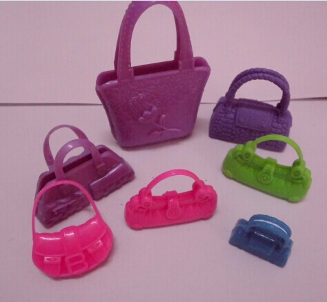 7pcs/lot New Trend top quality Combine Fashion Combine Colour Orignal bag for barbie doll Free transport