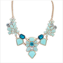 Wholesale Brand Fashion Jewelry Crystal Geometry Choker Neckalce For Women 2015 New Statement Collar Necklaces
