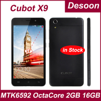 In stock!Cubot X9 smartphone MTK6592 Octa Core 2GB RAM 16GB ROM Android 4.4 Phone 5.0 Inch IPS OGS OTG ultra slim/Koccis