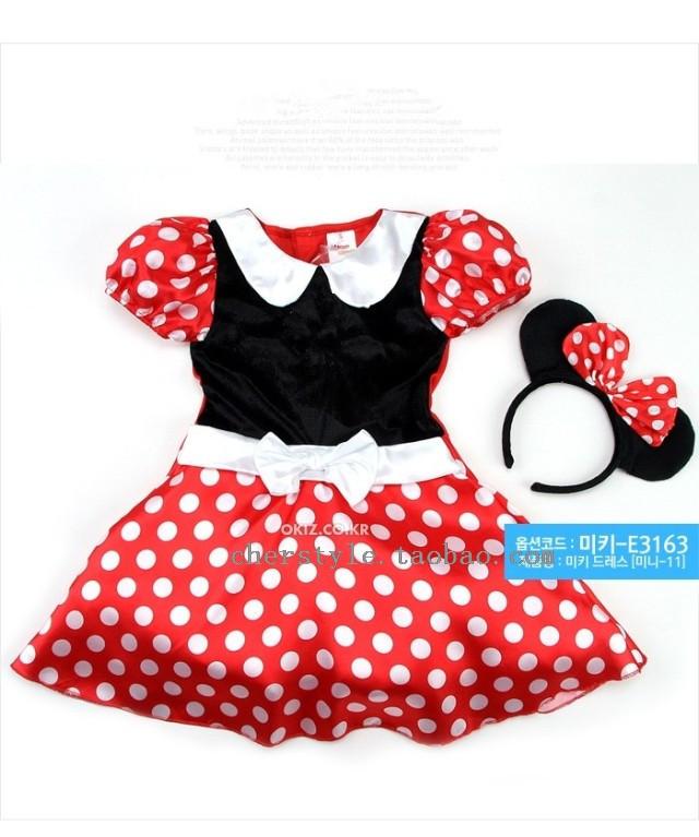 retail wholesale minnie dress mini mouse costume ballet tutu dress ear 2 8y 80 160cm. Black Bedroom Furniture Sets. Home Design Ideas