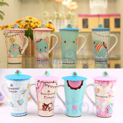 V115 1PC Cute Leakproof Silicone Coffee Mug Suction Lid Cap Airtight Sealed Cup Cover(China (Mainland))