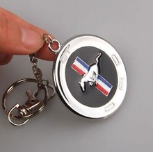 Metal Horse 3D Emblem Badge KeyChain keyring Key Chain Ring for Mustang GT