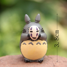 Anime My Neighbor Totoro Cos No Face Men Figures Totoro PVC Toys Landscape Deco Free shipping