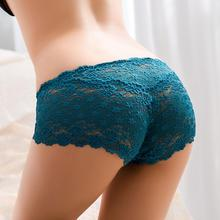 Good Quality Women Sexy Transparent Full Lace Panties Brand Water Soluble Trunk Gauze Underwear Low-waist Women Briefs 4NK056(China (Mainland))