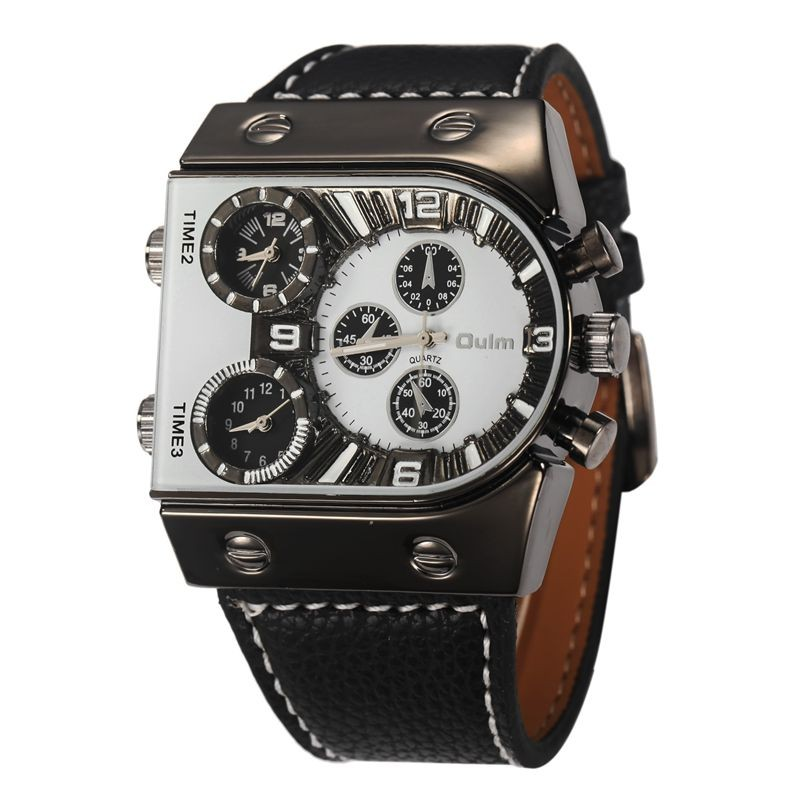 Luxury Men Watch Leather Wrist Watch For Men Waterproof Watches Military Clock Male Army Leather Big Face Quartz-watch