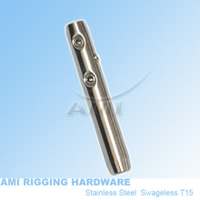 M6 left, 4mm wire, Swageless Metric thread stainless steel 316 cable railing wire rope terminal rigging hardware,(China (Mainland))