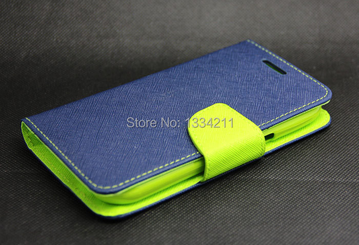 Luxury Ink Black + Green Wallet Leather Skin Flip Tpu Case Cover Samsung Galaxy Win Duos i8552 - LULU CASE store