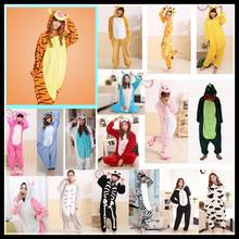 Adults Flannel Pajamas All in One Pyjama Animal Suits Cosplay Costumes Adult Garment Cute Cartoon Animal Onesies Pajamas(China (Mainland))