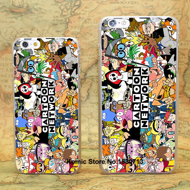 Cartoon Network Design hard transparent clear Skin Cover Case for iPhone 6 6s 6 Plus(China (Mainland))