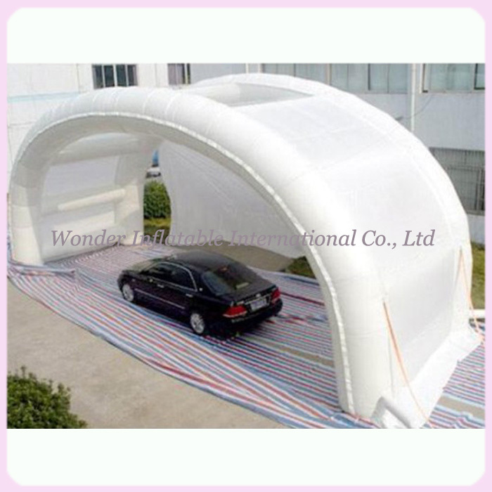 Collapsible Car Shelter : Outdoor shell shape folding waterproof inflatable car