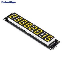 8-Digit LED Display Tube, 7-segments,74HC595, Yellow Color(China (Mainland))