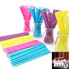 100Pcs 100mm Pop Sucker Sticks Cake Paper Lolly Lollipop Candy Chocolate DIY Modelling Mould Mold(China (Mainland))
