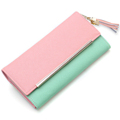 Fresh Style Contrast Color Long Wallet Women Fashion Korean Style Elegant Clutch 2016 New High Quality