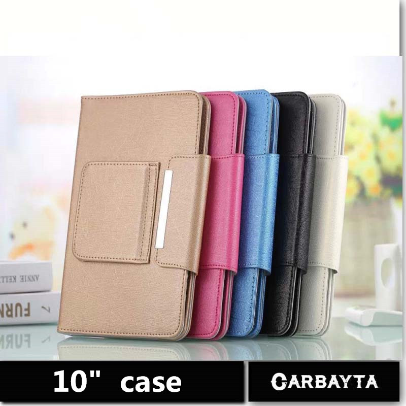Hot Selling Super Deal 1PC Universal High quality PU Leather Stand Cover Case For 10 Inch Tablet PC general cover 5 Color(China (Mainland))