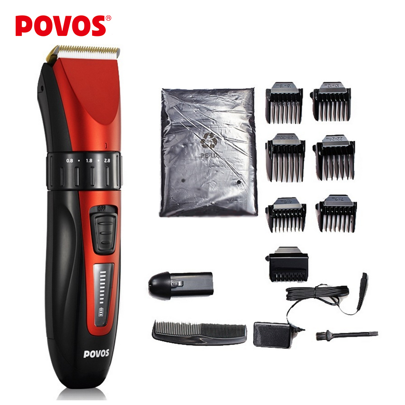 POVOS Waterproof LED Show Rechargeable Electric Hair Clipper Hair Trimmers Professional Cutting Haircut Styling Tools PW230(China (Mainland))