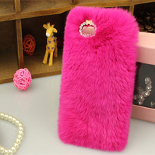 Hot Sale Fashion Winter Warm Fluffy hair Fuzzy phone case For Samsung galaxy S3 S4 S5 Hair Soft Skin Back Case(China (Mainland))