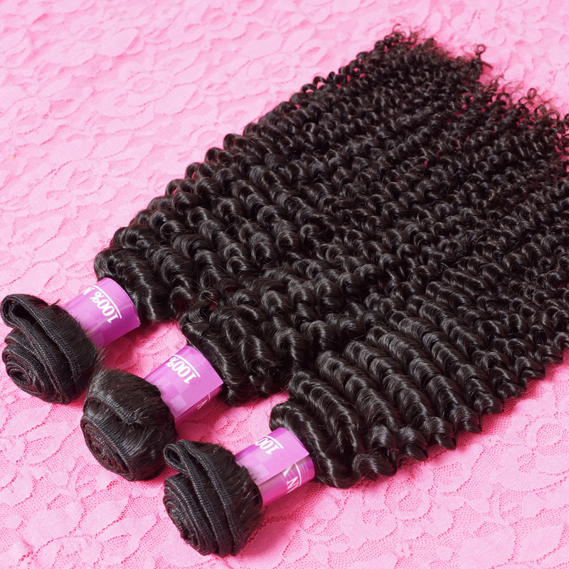 Mongolian Kinky Curly Hair 3Pcs Lot Unprocessed Remy Human Hair Weaves 8inch To 30inch Kinky Curly Virgin Hair(China (Mainland))