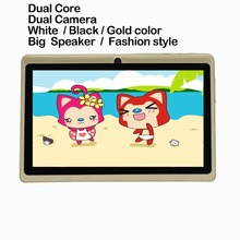 7 inch kids pattern photo tablet pc 1GB 16GB Quad Core Wifi Bluetooth Dual Camera be good for gift and  Sales promotion