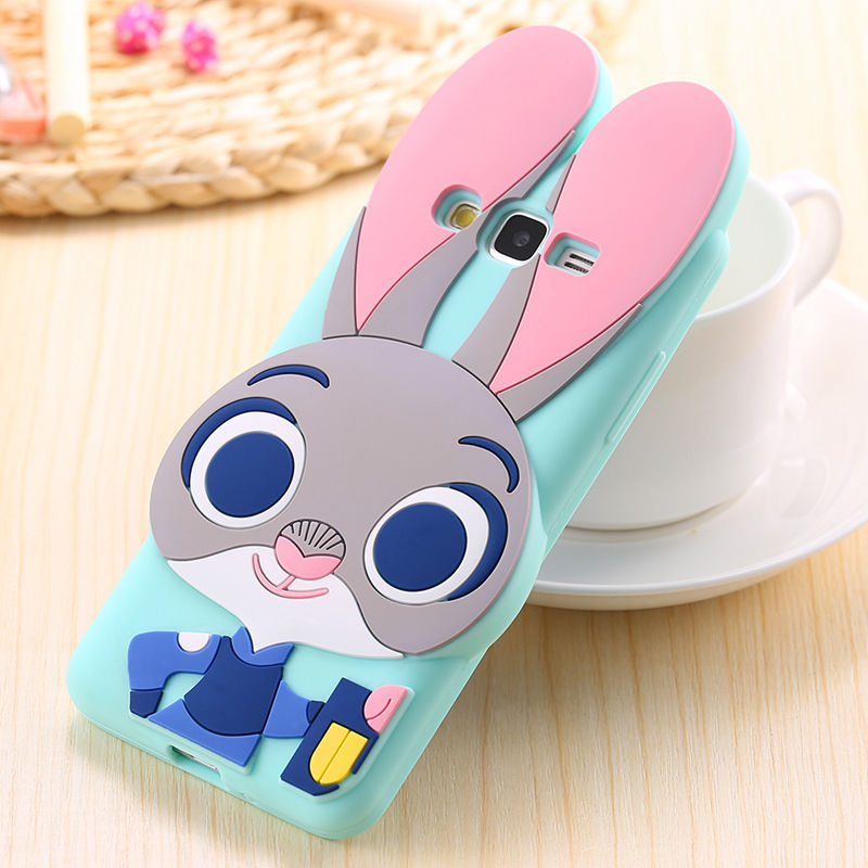 Zootopia 3D Cartoon Cute Judy Rabbit Soft Silicone Case Cover For Samsung Galaxy Grand Prime G530H G530FZ G530BT G531H G531F(China (Mainland))
