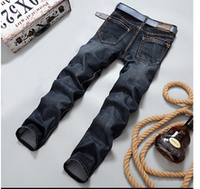 2015 Men Brand Jeans Male Casual Straight Denim Men's Jeans Slim denim overall  Wholesale Brand Jeans  Biker jeans