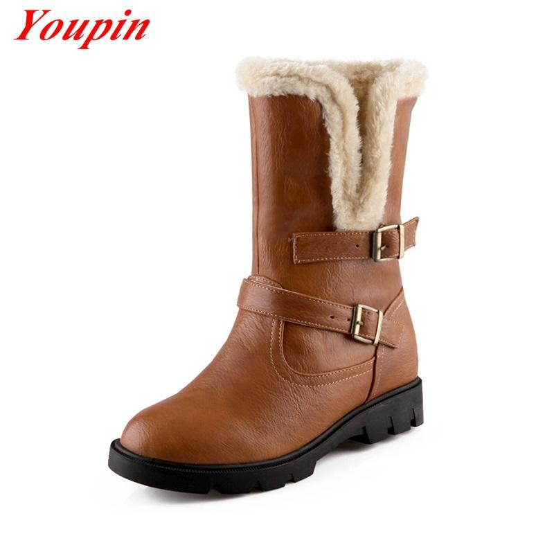 Гаджет  simple women snow boots brown 2015 latest autumn winter sexy women