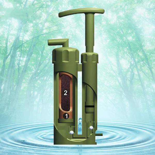 Portable Plastic Ceramic Water Filter Outdoor Purifier Cleaner 2000L 0.1 Micro For Survival Hiking Camping(China (Mainland))
