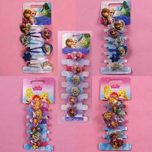 6pcs/set Hair Accessories Princess Elsa Anna Hair rope Snow Flower hairpins BB clips Headwear for girls(China (Mainland))