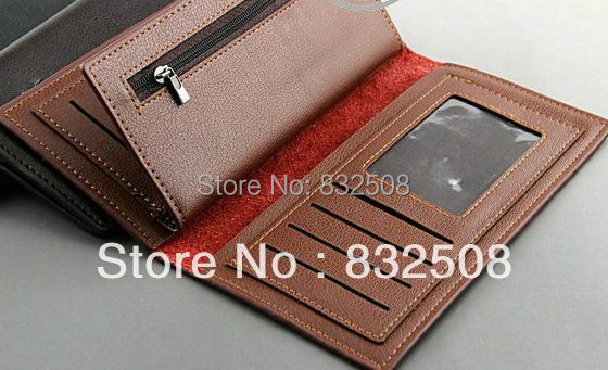 DHL-EMS Free shipping wholesale top selling brand new 30pcs/lot genuine leather men wallet with zipper<br><br>Aliexpress