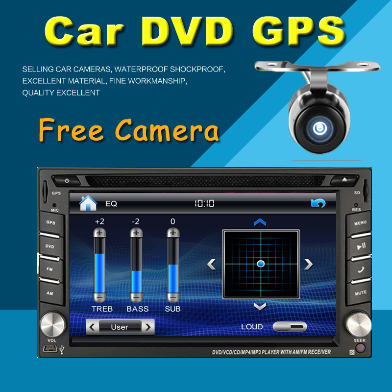 2 din 100% New universal Car Radio Double 2 din Car DVD Player GPS Navigation In dash Car PC Stereo video+Free Map+Free Camera(China (Mainland))