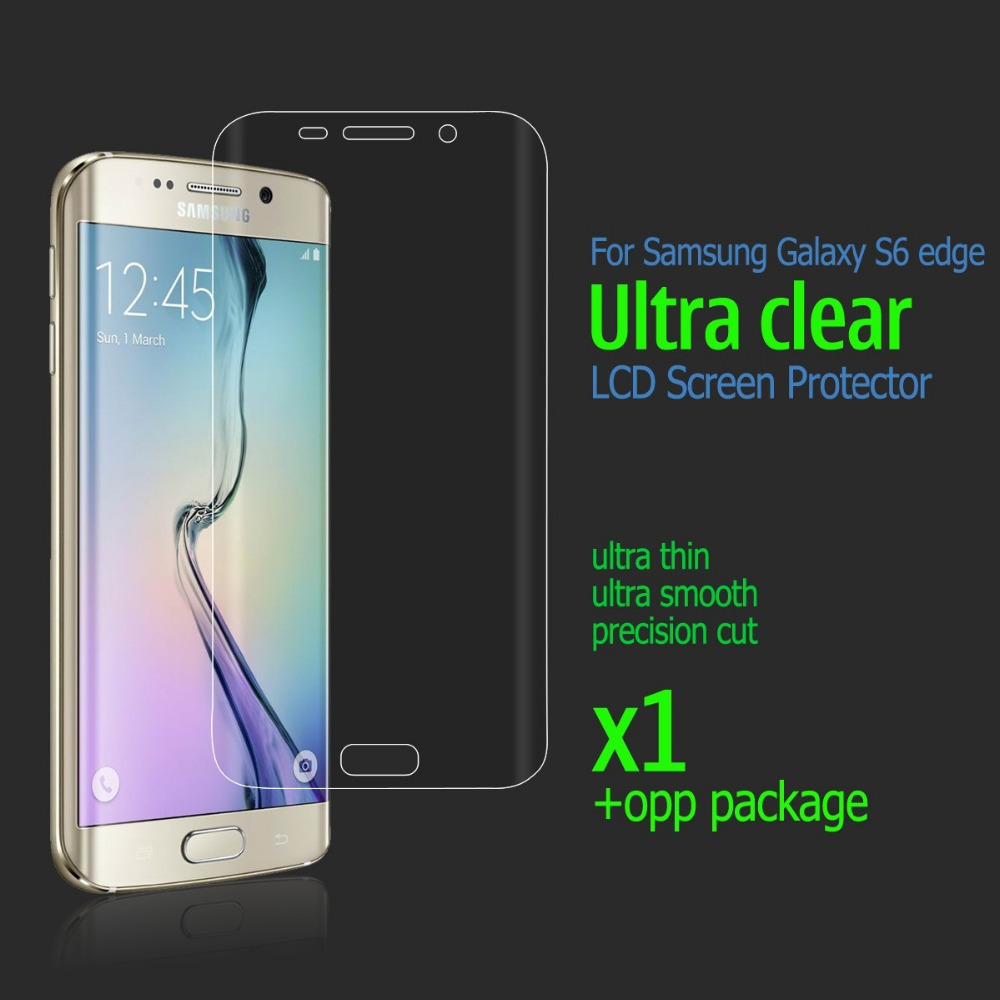 For S6 edge HD clear Screen Protector FULL Cover Anti Glare Protective Film Guard For Samsung Galaxy S6 edge G925 G925F(China (Mainland))