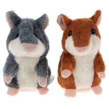 2 Colors Talking Hamster Plush Toy Hot Cute Speak Talking Sound Record Hamster Talking Toys for Children Kids Baby(China (Mainland))