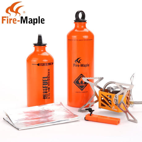 Fire Maple FMS-F3 Sets Split Outdoor Fuel Stove Oil Stove +4 gifts (500ml+750ml Oil Bottle+Fire Starter+Wind Shield Screen)<br><br>Aliexpress