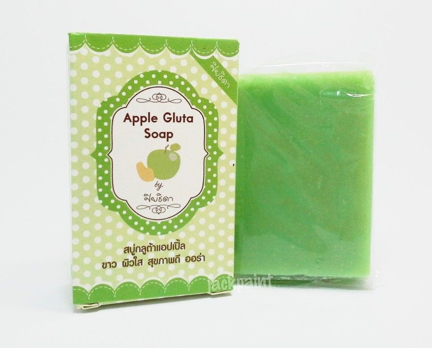 New Apple Gluta Soap. White skin clear healthy with the aura. Free Shipping(China (Mainland))