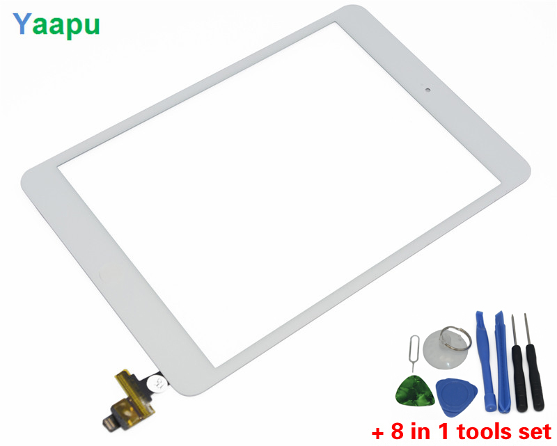 white color OEM high quality touch screen digitizer glass for iPad mini with IC connector and home key(China (Mainland))