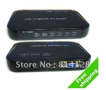 1080P Full HD Multimedia Player  Support HDMI VGA MKV HDD Media Player Free Shipping