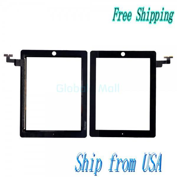 Ship From USA Touch Screen Digitizer Replacement for Apple iPad 2 Black I00647(China (Mainland))