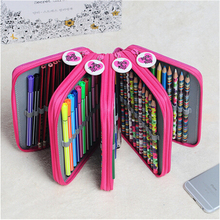 4 Layer Oxford Canvas Pencil case 72 Holders Pencil Bags Multi-Function Storage Bag School Office Supplies Escolar Papelaria(China (Mainland))