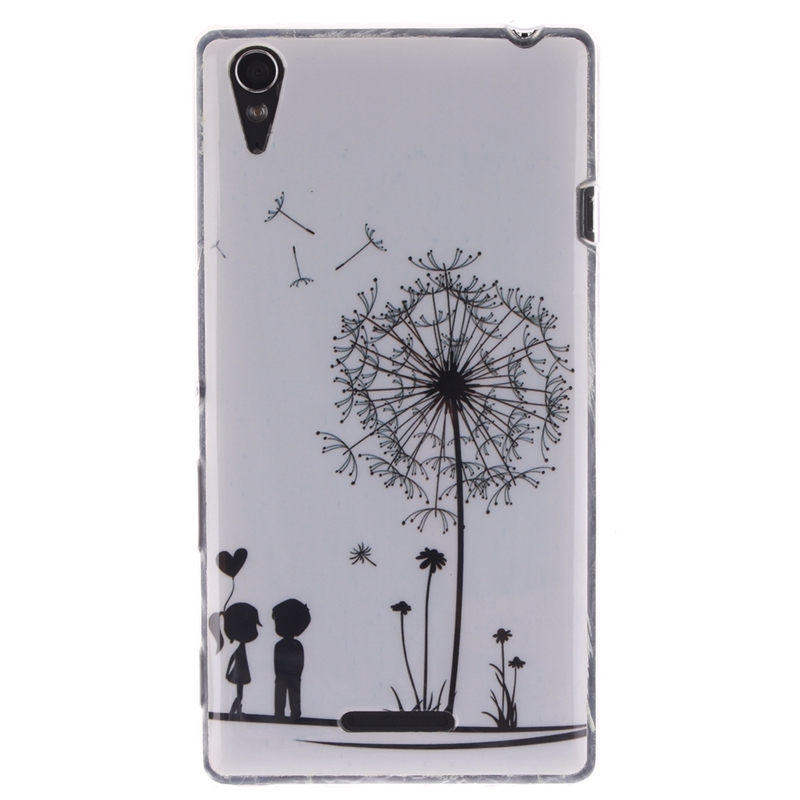 Owl Etui Sony Xperia T3 Case D5103 D5106 M50W Soft Silicone TPU Back Cover Soni Experia T3 Phone Coque Capinha Housing