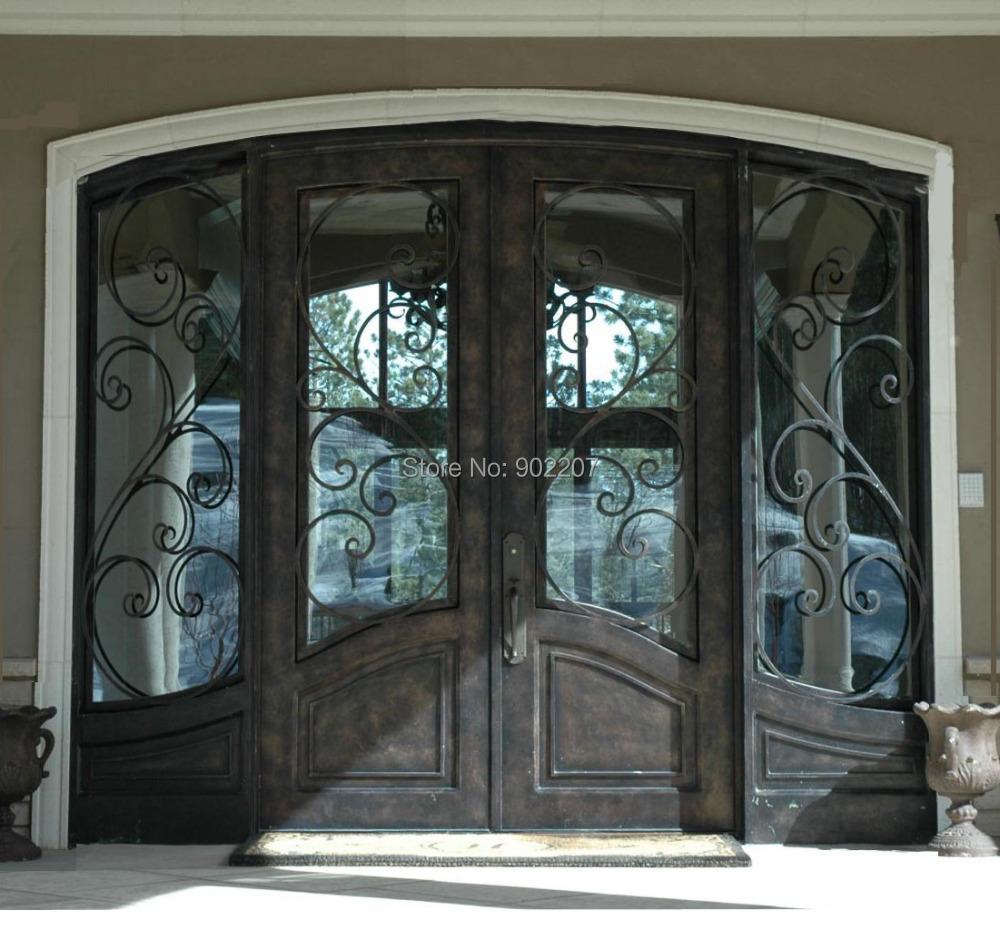Buy custom design wrought iron entry door for Entry door manufacturers