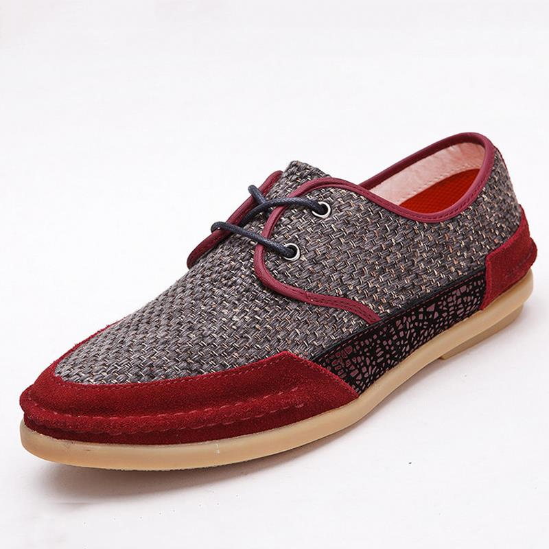 Linen Oxford Shoes Men Linen Shoes New Summer