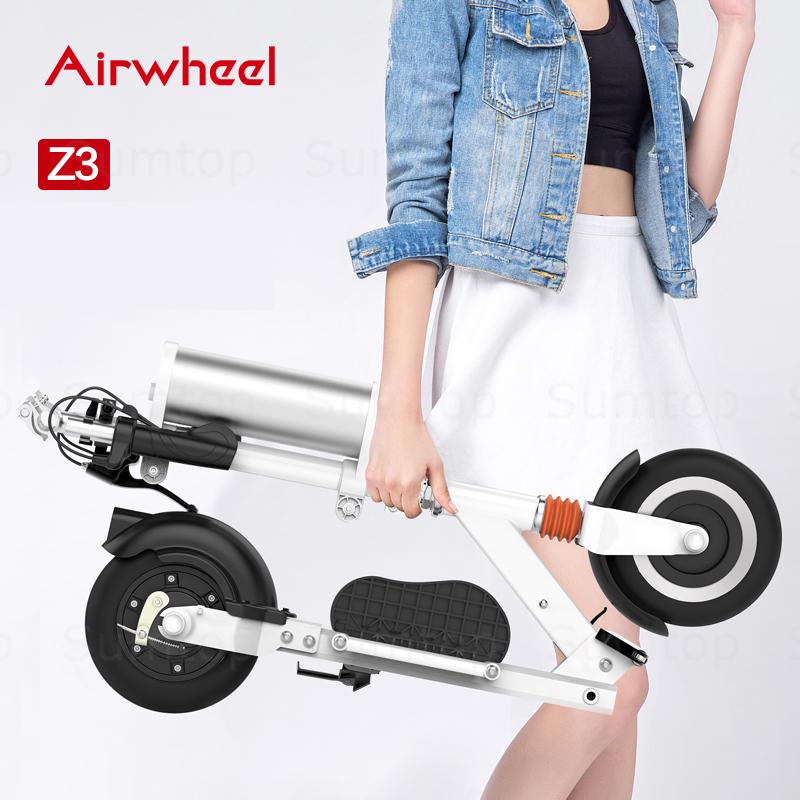 original Airwheel Z3 portable electric bicycle sport folding pedelec bike with usb charging port ebike cycling adult e bike(China (Mainland))